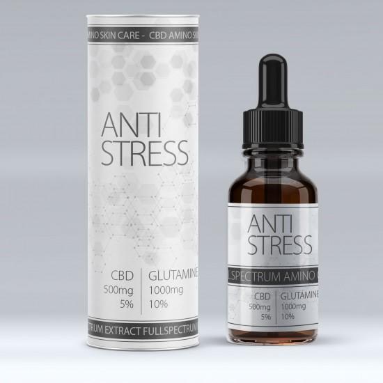 CBD Öle 500mg - Glutamine 1000mg Anti Stressz (spray)